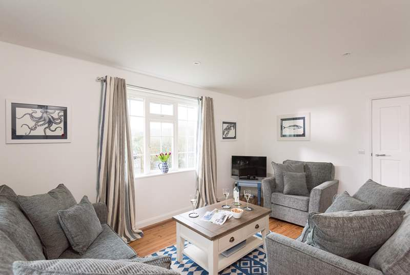 The sitting area of the open plan ground floor living accommodation.