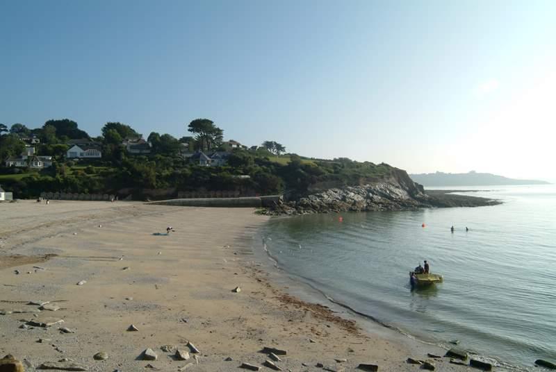 Swanpool beach is a level ten minute stroll away.