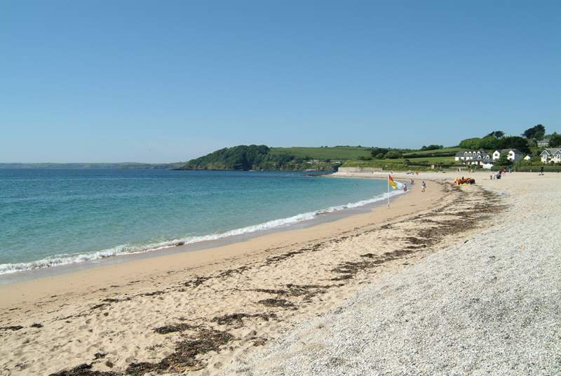 Gyllyngvase beach is less than a mile away.