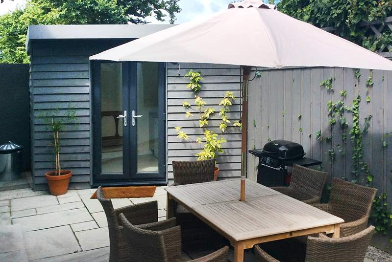There is a lovely enclosed and totally private courtyard to enjoy at the back of The Willows, complete with summerhouse/utility room - such a well thought out and  useful space for you.