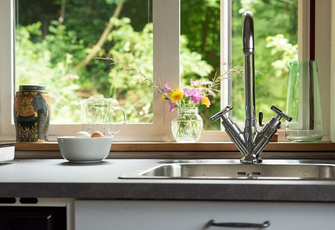 Washing up with a view!