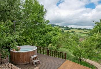 Fabulous views across the picturesque Coly valley.
