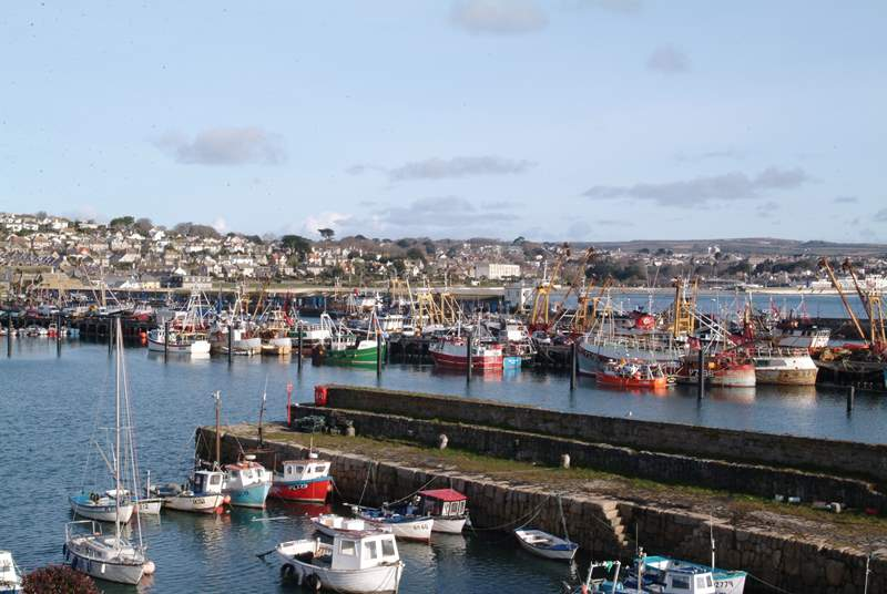Newlyn harbour is within easy walking distance from Love Lane Cottage.