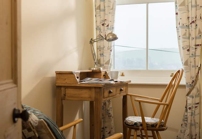 The little study is ideal for quiet reading or keeping up with work...although the views are a major distraction!