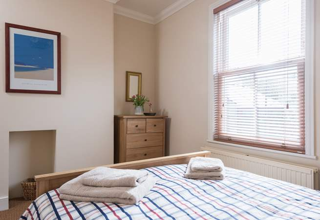 This bedroom has a standard double bed (Bedroom 2).