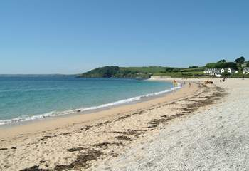 Gyllyngvase beach is great for families.