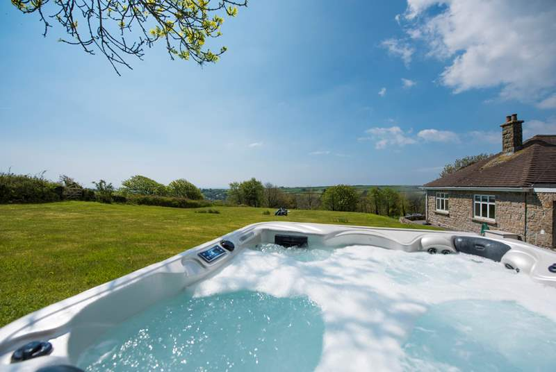Take in the views from the hot tub.