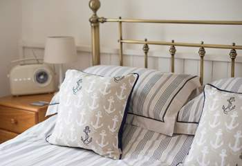 Snuggle up in an antique bed.
