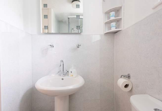 The shower-room is compact.