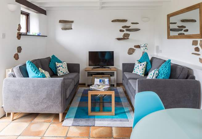 Cosy living area to slump into after a long day exploring the beautiful surroundings of the South Hams.
