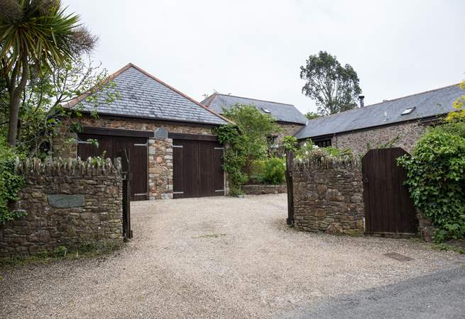 The entrance to Laurel Cottage and your private gated courtyard.