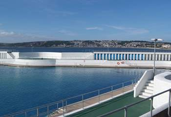 The open air Jubilee swimming pool in Penzance.
