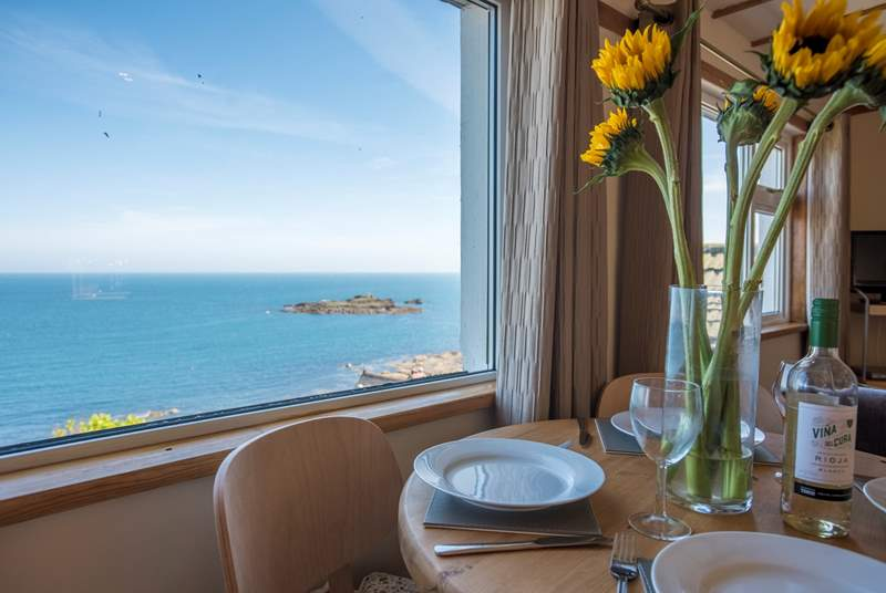 Enjoy a meal with a view.