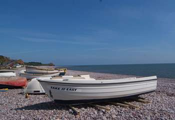 Budleigh Salterton is a little further along the east Devon coast towards Exmouth, 18 miles away. It is where the Jurassic Coast starts and there are lovely walks along the coastal path.