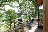 There are sun-loungers on the decking, perfect for relaxing on with a good book.