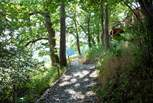 Follow the path (steep in places, take care) up to George Cabin.