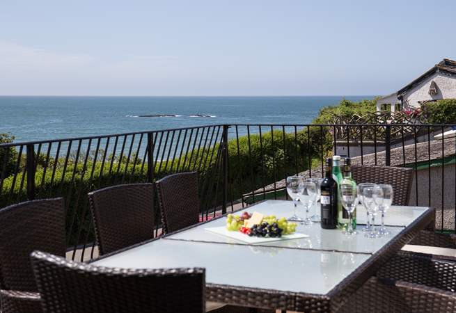 Dining al fresco in this amazing spot is a real treat.