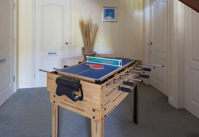 Just outside of Bedroom 2, in the entrance hall , you have this fabulous games table.