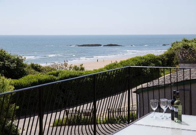 What a stunning view! Step out of your lounge onto this amazing decked balcony with unrivalled sea/beach views.