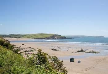 Sedgewell beach in all its sandy glory.