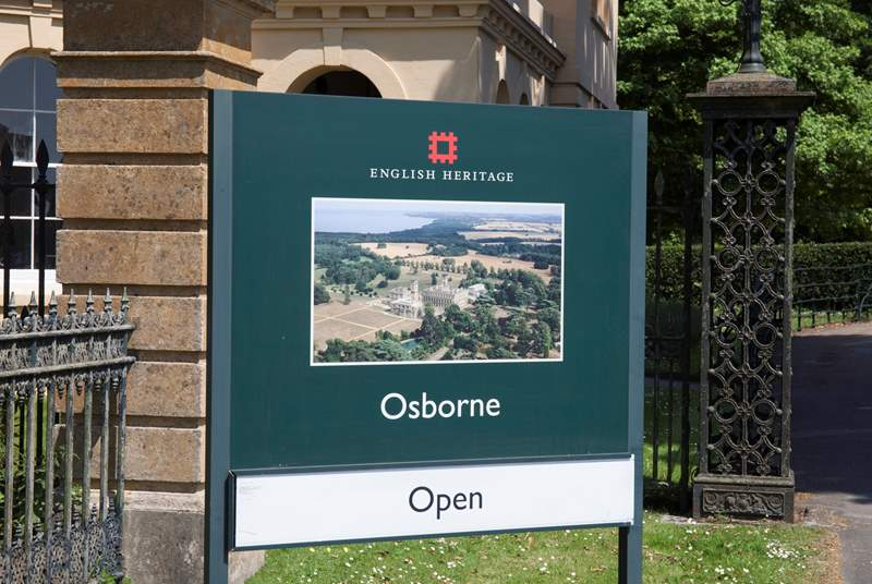 Osborne House, Queen Victoria's holiday home is just 5 minutes away