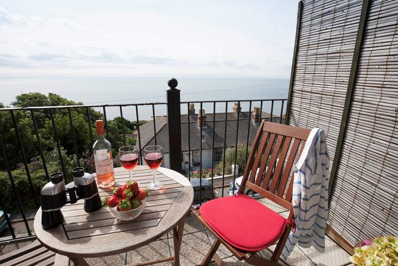 Enjoy your morning coffee or a glass of wine with one of the best backdrops on the Isle of Wight.