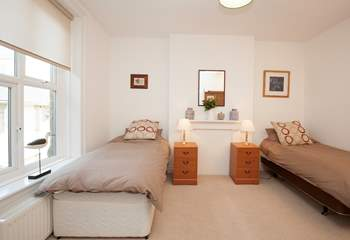 Large twin bedroom with 3ft single beds ideal for adults or children.