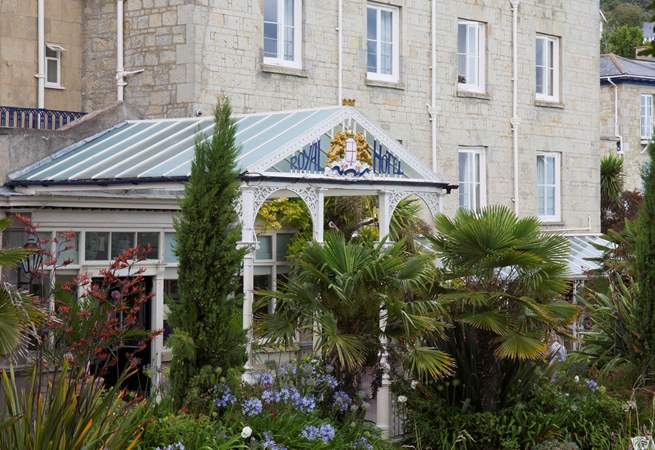 The Royal Hotel. This grand hotel with formal gardens is close to the seafront.
