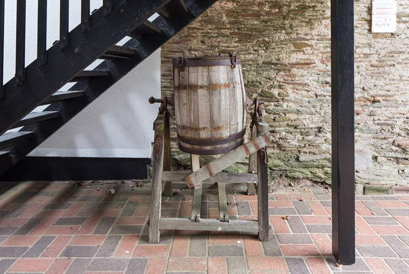 A charming cider press, a nice tribute to the history of Stancombe Manor.