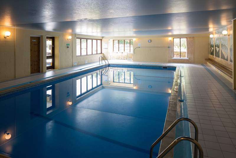 Stunning communal, indoor heated swimming pool.