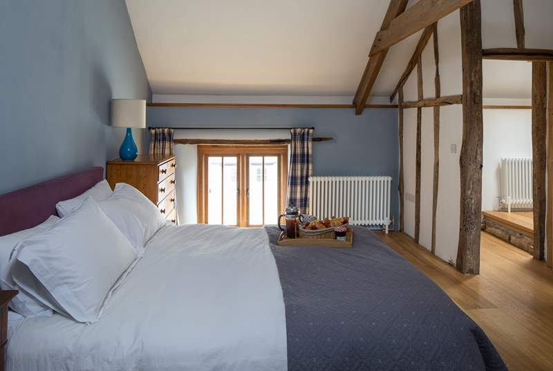 The main bedroom in Giles Cottage also has an en suite shower-room. Perfect for a good nights sleep after a full day of action.