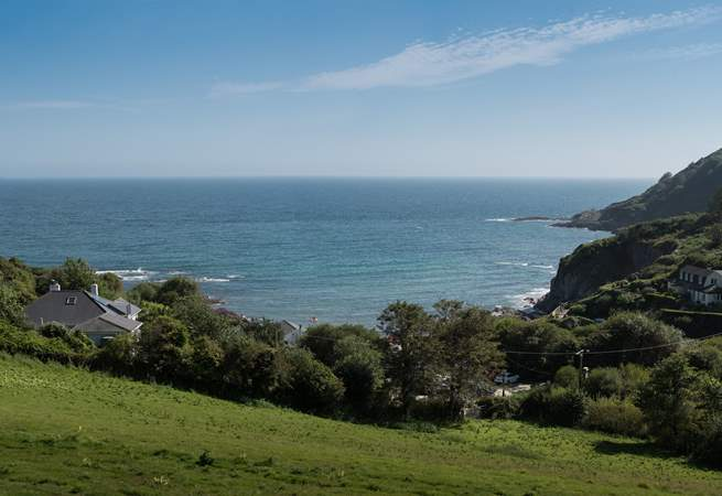 Phoenix is tucked into a sheltered setting right above Talland Bay.