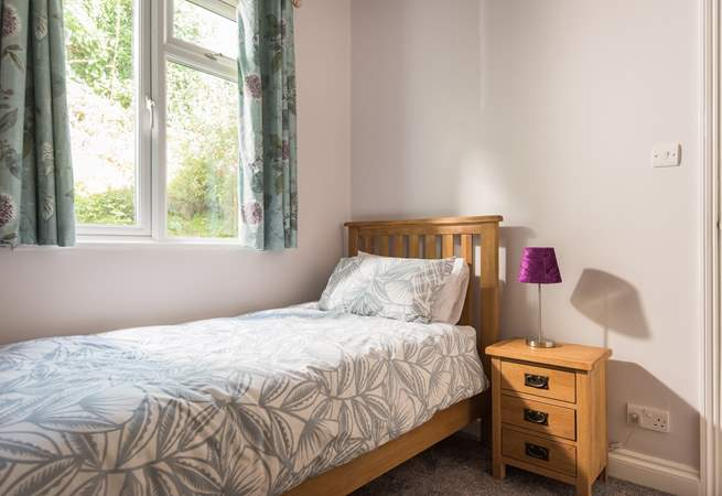 Bedroom 2 has a single bed.