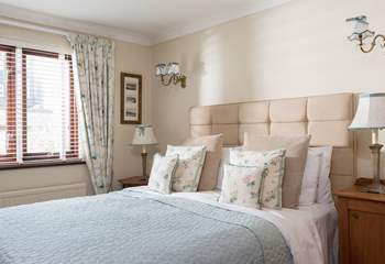 The master bedroom  has a superbly comfortable double bed (Bedroom 2).