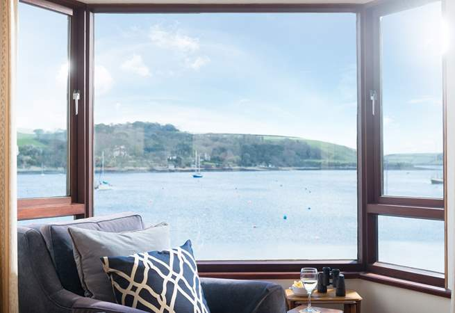 Superb views from the sitting-room (in summer there are yachts moored on the water).
