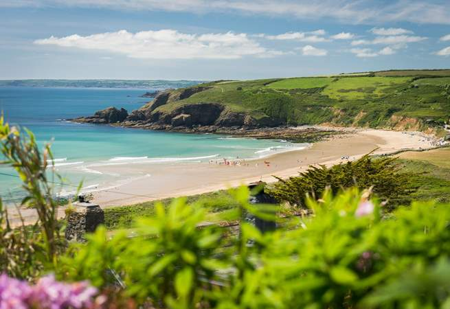 Praa Sands is stunning and it is easy to explore Cornwall from this great location.