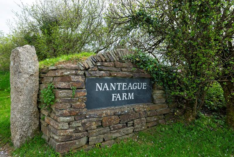 The entrance to the drive that leads to Nanteague.