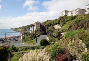 The road down to Ventnor seafront.