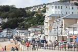 Ventnor beach is an ideal place for sunbathing and family swimming.