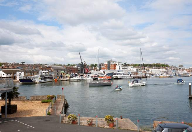 The views from the living-room, look over to Cowes and the various marinas.