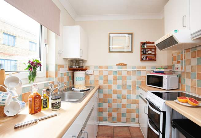 The small but well-equipped kitchen has everything you are likely to need.