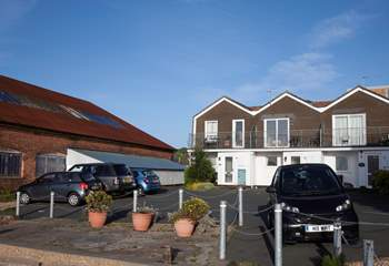Each cottage has allocated parking.