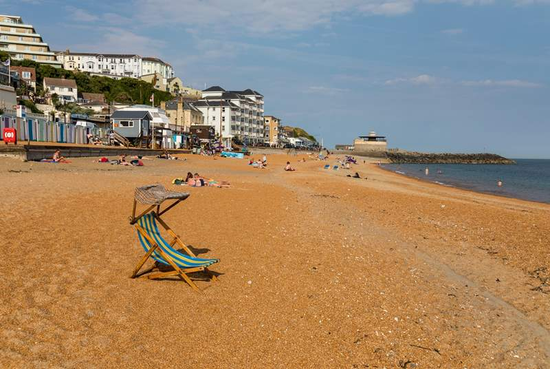 The golden sands of Ventnor beach.