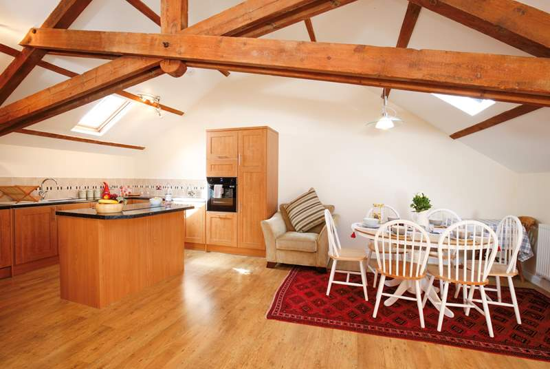 The beautiful beams bring stunning characteristics to this pretty barn conversion