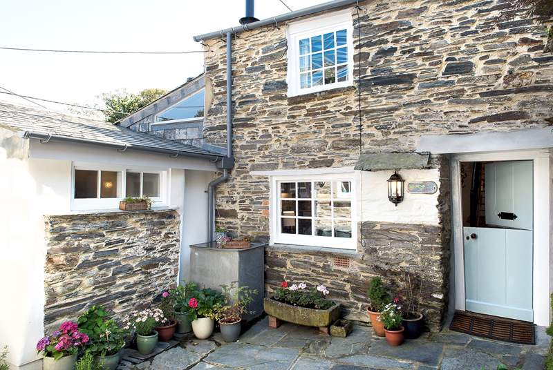 Charming Little St Hugh in its pretty courtyard setting, complete with stable-door.