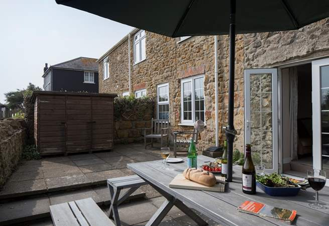 The Guardhouse has a spacious terrace for relaxing.