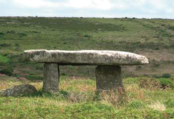Lanyon Quoit, on the outskirts of Penzance.