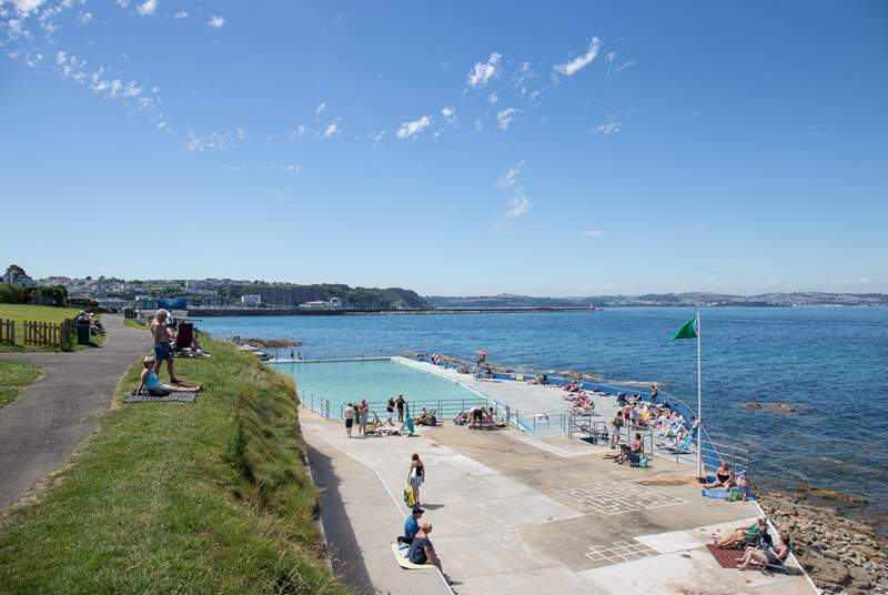 Shoalstone seawater swimming pool is manned with lifeguards, making this a great day out for all the family.