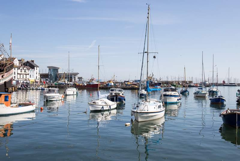 The beautiful Brixham harbour is only a five minute stroll from 1 Apters Hill House.