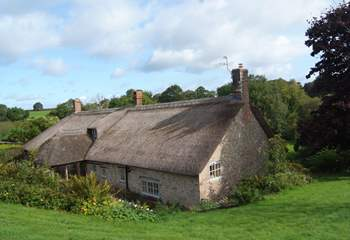 This is the wonderful view down over the farmhouse from the gardens at the rear.